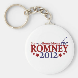 Stay-at-Home Moms for Romney 2012 Keychain