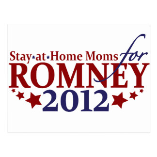 Stay-at-Home Moms for Romney 2012 Postcard