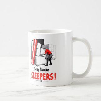 Stay Awake Sleepers Safety Retro Vintage Kitsch Coffee Mug