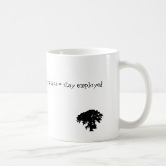 stay awake = stay employed coffee mug
