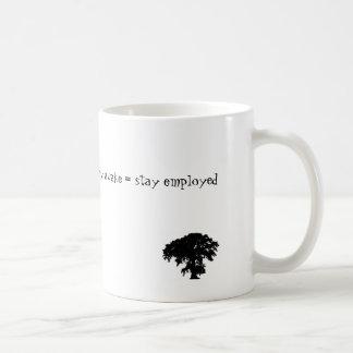 stay awake = stay employed classic white coffee mug