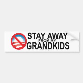 Stay Away From My Kids Bumper Sticker