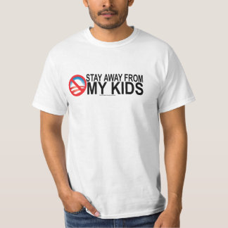 Stay Away From My Kids Mens Adult T-Shirt