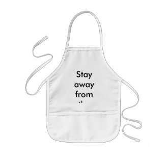 Stay away from the stove kids' apron