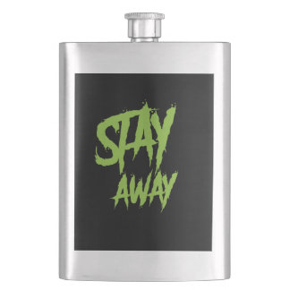 Stay away wall paint neon green flask