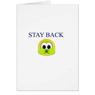 Stay back card