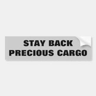 Stay Back Precious Cargo  Horse Trailer Car Bumper Sticker