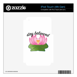 Stay Balanced Decal For iPod Touch 4G