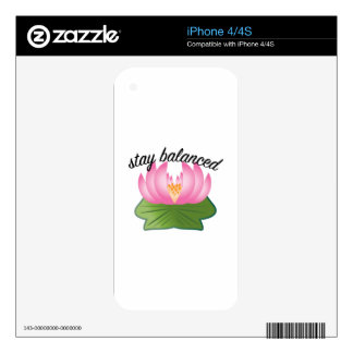 Stay Balanced Decals For The iPhone 4