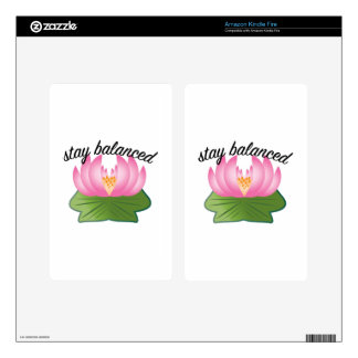 Stay Balanced Kindle Fire Decals