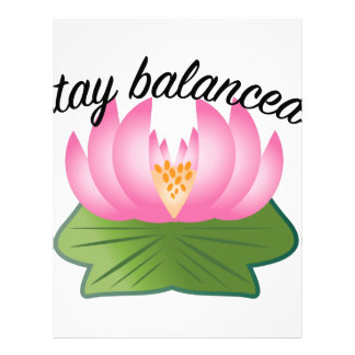 Stay Balanced Letterhead