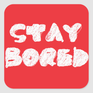 STAY BORED LOGO STICKER