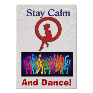 Stay Calm and Dance Card