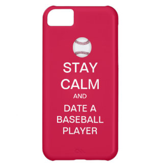 Stay Calm And Date A Baseball Player iPhone 5 Case