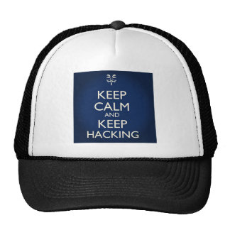Stay Calm and Keep Hacking Trucker Hat