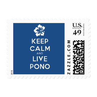 Stay Calm and Live Pono Stamps