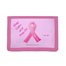 Stay calm and pray on! tri-fold wallet