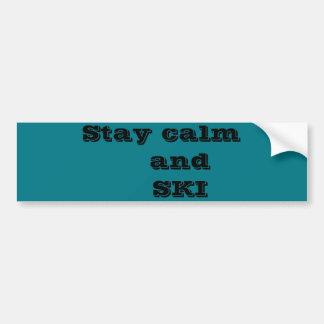 Stay calm and SKI Bumper Sticker Car Bumper Sticker