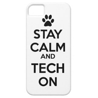 stay calm and tech on phone case