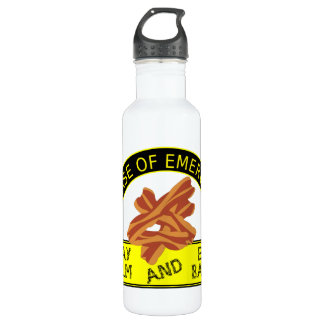 Stay Calm, Bacon Stainless Steel Water Bottle