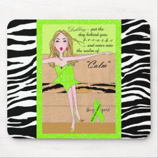 Stay Calm Breathe Diva Lime Mousepad