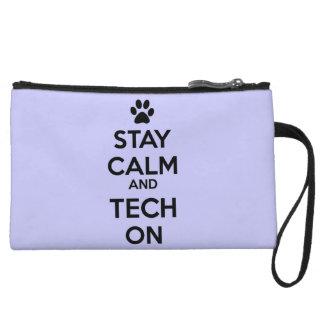 stay calm clutch light purple