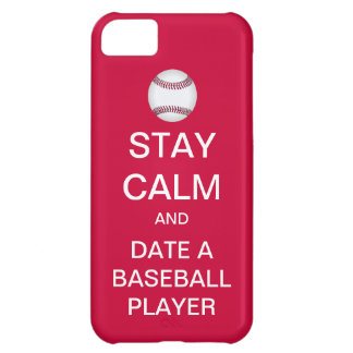 STAY CALM Date A Baseball Player iPhone 5 Case