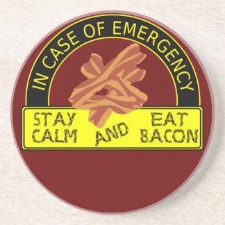 Stay Calm, Eat Bacon Coaster