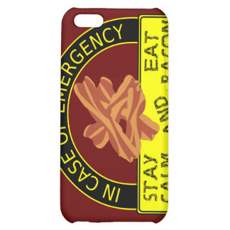 Stay Calm, Eat Bacon  Cover For iPhone 5C