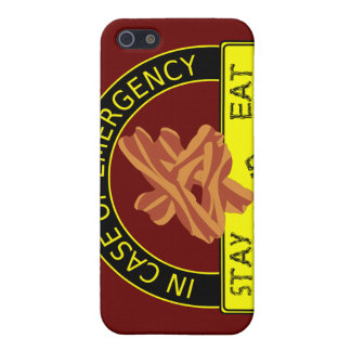 Stay Calm, Eat Bacon  iPhone 5 Cases