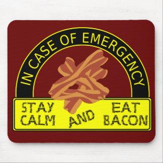 Stay Calm, Eat Bacon Mousepad