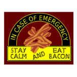 Stay Calm, Eat Bacon Recipe Card Post Cards