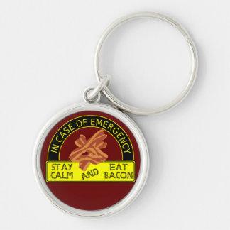Stay Calm, Eat Bacon Shirt Keychain