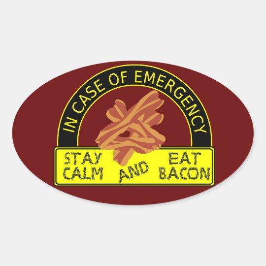 Stay Calm, Eat Bacon Sticker