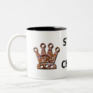 Stay Calm Eat Chocolate Two-Tone Coffee Mug
