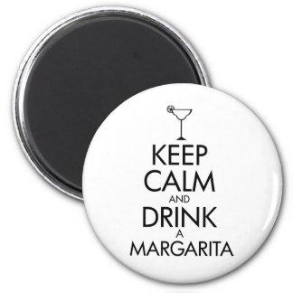 Stay Calm Margarita T-shirt 2 Inch Round Magnet