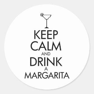 Stay Calm Margarita T-shirt Classic Round Sticker
