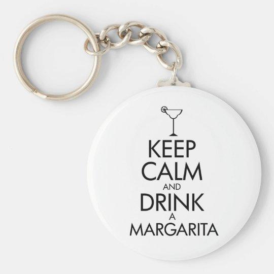 Stay Calm Margarita T-shirt Keychain
