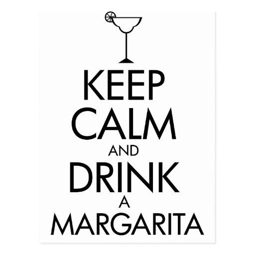 Stay Calm Margarita T-shirt Post Card