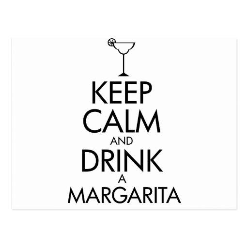 Stay Calm Margarita T-shirt Postcards