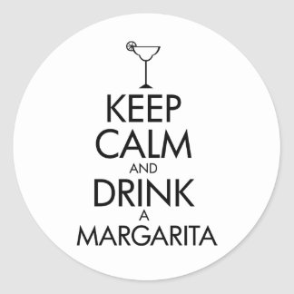 Stay Calm Margarita T-shirt Stickers