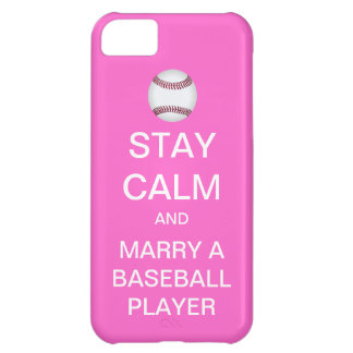 STAY CALM Marry A Baseball Player iPhone 5 Case