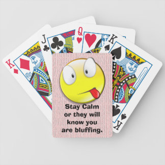 Stay Calm playing cards