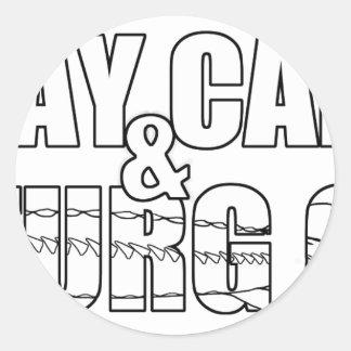 Stay Calm & Sturg On -Lake Sturg - acigifts@yahoo Classic Round Sticker