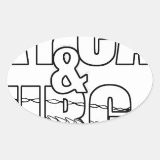Stay Calm & Sturg On -Lake Sturg - acigifts@yahoo Oval Sticker
