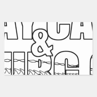 Stay Calm & Sturg On -Lake Sturg - acigifts@yahoo Rectangular Sticker