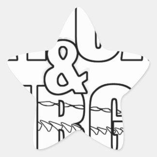 Stay Calm & Sturg On -Lake Sturg - acigifts@yahoo Star Sticker