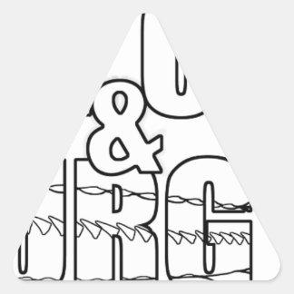 Stay Calm & Sturg On -Lake Sturg - acigifts@yahoo Triangle Sticker