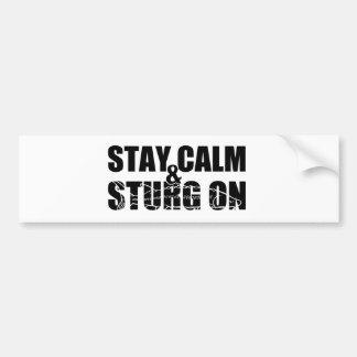 Stay Calm & Sturg On -White Sturg - acigifts@yahoo Bumper Stickers