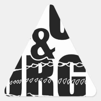 Stay Calm & Sturg On -White Sturg - acigifts@yahoo Triangle Sticker